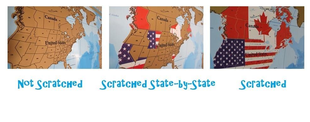 Great Wedding Gift Scratch Map Scratch Off Maps